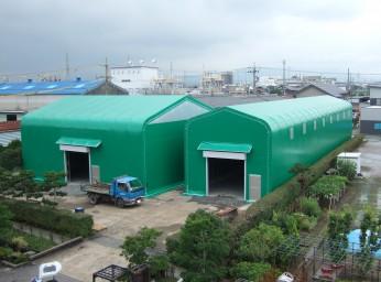 テント倉庫[2連棟・明り取り]