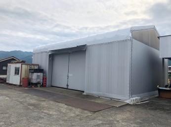 テント倉庫 屋根張替え工事