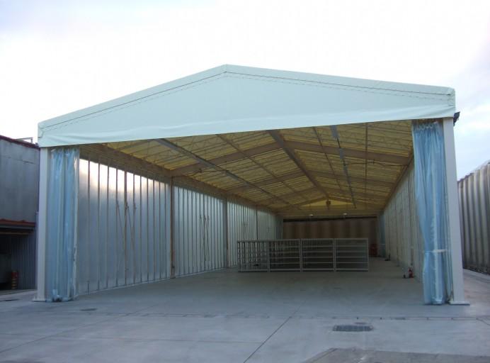 固定テント倉庫[周囲スライドカーテン]