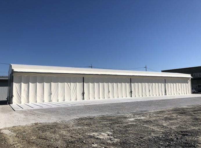 大型テント倉庫[大開口スライドカーテン]