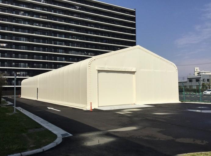 大型テント倉庫[くぐり戸1ヶ所付き]